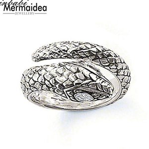 Rings Snake 925 Sterling Silver Zirconia Classic Gift For Women Men Heart Ring New Fashion Jewelry