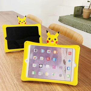 For iPad 9.7 5th 6th 10.2 7th Pro 9.7 10.5 11 case Lovely 3D Cartoon Silicon PC stand cover For iPad Air 1 2 3 Tablet Kids