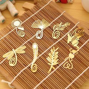 НОВИНКА Свадебное золотое перо закладка Оливковое гинкго металлический абзац Творческие закладки 100 шт.
