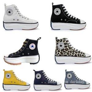 все Женская J.W. JW Anderson Chuck Run Star Hike Цельнолитной обувь Женщина, обратныеХолст Boots кроссовки Stars Платформа Sneaker новый