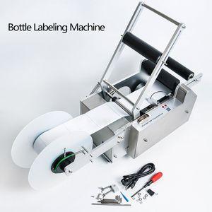 LT-50S Halbautomatische runde Flaschen-Etikettiermaschine-Stock-Mark Etikettierer Manuelles Etikettiermaschine für Kunststoff-Glasflaschen