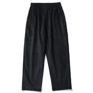 Men 2020 Hip Hip Corduroy Pants Streetwear Retro Vintage Embroidery Pants Harajuku SweatPants Baggy Joggers Trousers Cottonblack