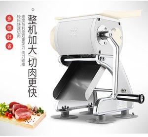 Commerciale in acciaio inox carne manuale di taglio Machine Tool Cutter affettatrice casa Meat Grinder a dadi Nuova macchina