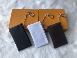 4 colores de cuero bolsa de la llave de Damier con alta calidad famosos señoras del diseño clásico y estaran en bolsa de dinero clave de cuero pequeña bolsa de monedas
