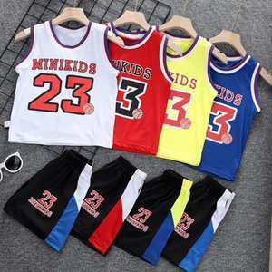 ViGeq Boys Basketball sportswear Sweatshirt sweatshirt ' sports jersey suit 2020 children's summer clothes handsome children's quick-drying