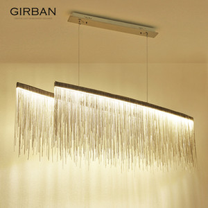 Nordic Pendant Lamp post modern minimalist creative personality living room dining room bar tassel chandelier decor