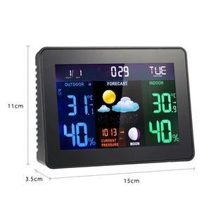 Digital Wireless Weather Station Despertador Snooze Indoor Outdoor termômetro higrômetro Barómetro Calendário da fase da lua de exibição