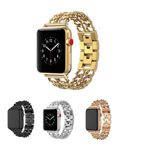 Bağlantı Bilezikler Bantları Paslanmaz Çelik Kayış Apple Watch Serisi için 1/2/3 38mm 42mm Bilezik Metal Band 4 40mm 44mm