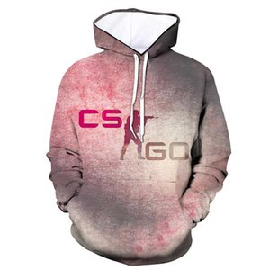 Felpa CS GO Gamer Hot Counter Strike Offensiva globale 3d stampa Uomo Felpa con cappuccio Top Marchio di qualità Abbigliamento Divertente accogliente HoodiefactorySH190902