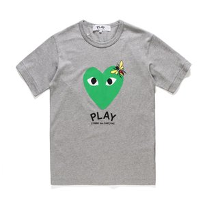 C-D-2019 G hombres de Juego rojo / verde del corazón T 100% de algodón de impresión de la calle Alta camiseta de los hombres de las mujeres de moda gris blanco negro de camisetas de alta calidad