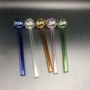 Transparent Ölbrenner Rohr Fest Farbe löschen Pyrexglas Rauchpfeifen Taschen Shishas Shisha Wasser Bongs Zubehör Handgefertigte 1 8ps E19