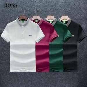 20ss jefes camiseta diseñadores Camiseta del polo de visita de moda las marcas Carta bordado Polo Hugo Limited color sólido alta calidad de encargo de los hombres