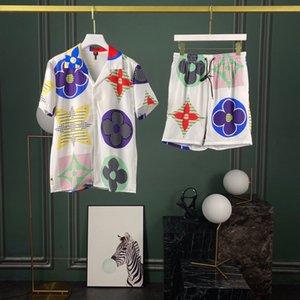 2020ss Frühling und Sommer neue hochwertige Baumwolle Druck Kurzarm Rundhals panel T-Shirt Größe: ml xl xxl xxxl Farbe: schwarz weiß 7d6