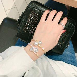 ashion Jewelry Bracelets FYUAN Big Pearl Bracelet For Women 2019 Shiny Gold Color Rhinestone Crystal Bracelets & Bangles Fashion Jewelry...