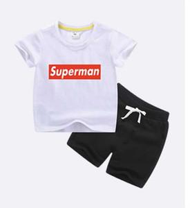 2020 nuevo Verano Ropa de Niños Bebés Traje Niños T-shit + Pantalones Cortos 2 Unids Set de Ropa Niños Niños Niñas Ropa Casual Conjuntos