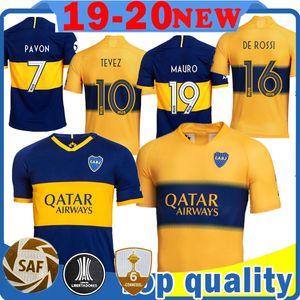 Herren Boca Juniors Soccer Jersey TEVEZ # 10 MARADONA # 10 MAURO # 19 abila # 9 REYNOSO # 30 Fußball-Trikot