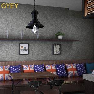 3D Wallpaper Retro Shading grigio melange PVC Wallpaper Chinese Restaurant Cafe Parete Di Fondo