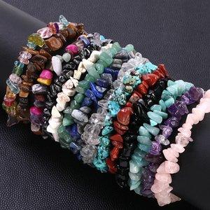 Natural Stone Hot Sale 100% Natural Amethysts Bracelet Charms Elastic Rope Bracelets