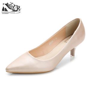 OL Woman Shoes Genuine Leather inside Low Heels Women Pumps Stiletto Thin Heel Women's Work Dress shoe Pointed Toe Wedding Shoes