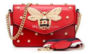 Gem Bee femmes sac Pendentif dame PU sac à main sacs à main sacs femme sacs designer Vintage Flap Sac Cartables Free Ship