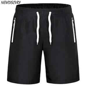 NEWDISCVRY Herren Strand Shorts 2018 Sommer-Fest Fashion Men Quick Dry Zipper Männer Shorts Casual Man Meer Verpflegung Jogger