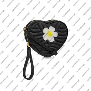 Wave Heart Bag Frauen Dame Calf Leder Handtasche Geldbörse Crossbody Clutch Armband Abendtasche Umhängetasche