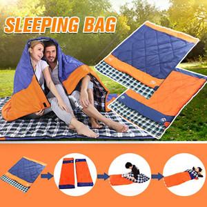 Çanta Bahar Sonbahar Uyku Tulumu Ultralight 2 Kişi Zarf Lovers Sleeping 1 Açık Kabin SGODDE 3 (185 + 35) * 150cm