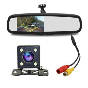 4.3 inch 800X480 Car Video Player Monitor Interior Rear View Mirror Replacement with Reverse Basic Camera System carvd
