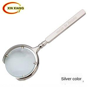 60mm classique 8 fois russe miroir métal 60mm antique antique artisanat miroir classique lecture de loupe de poche en verre cadeau