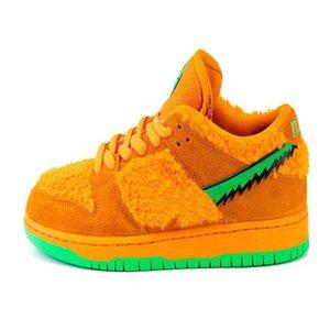 2020 nouveau publié SB Dunk Low Grateful Dead x chaussures de course ours baskets mode jaune vert orange CJ5378-700 taille 36-45