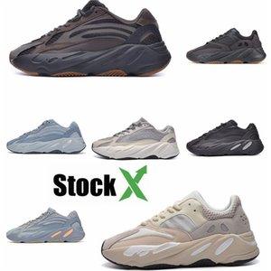 2020 Azael Alvah 700 V3 Mens Designer Shoes Kanye West incandescenza bianca In Dark modo di alta qualità del progettista donne degli uomini addestratori correnti Wit # DSK647