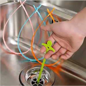 Smiley Sewer Hair Cleaner Salle De Bains Lavabo Drain Anti-blocage Nettoyage Crochet Plancher Clear Plugging Outils CNY999