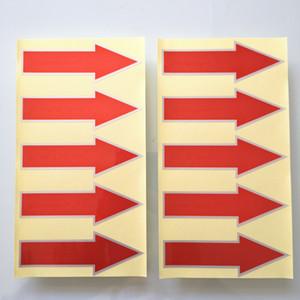 2000pcs 8.5x3cm flèche rouge, matériau PET en argent durable, autocollant pour étiquette auto-adhésive, n ° d'article GU18