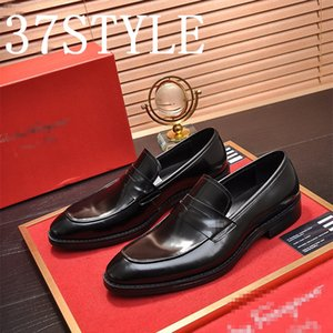 19FS luxurious Men TOP Leather Shoes Low Heel Fringe Shoes Dress Shoe Brogue Shoes Spring Ankle Boots Vintage Classic Male Casual US6-11
