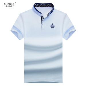Shabiqi 새로운 브랜드 남자 짧은 소매 스탠드 칼라 폴로 티 디자이너 폴로 셔츠 6xl 7xl 8xl 9xl 10xl SH190718