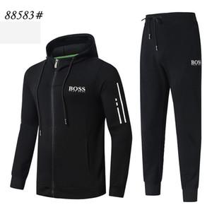 2019 Nouveau mode sportswear 2pcs Survêtements concevoir Sweats à capuche Jogger Outdoor Sport Homme Costume Hommes Marque Vêtements de haute qualité pour New 3XL