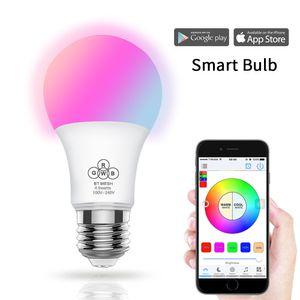 4.5W Smart LED Bulbs Mobile Phone Control Bluetooth Light Bulb APP Wireless E27 Dimming Creative Bulb Lights