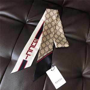 مصمم الفاخرة عالية الجودة تقليد الحرير نسيج الشريط متعدد الوظائف الحجاب القوس التعادل الشعر الشريط حقيبة حجم 120-8 سنتيمتر