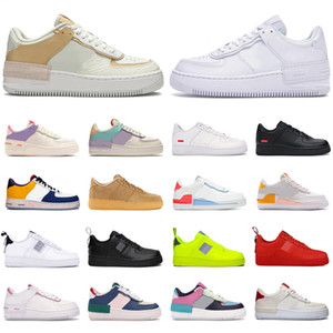 2020 nike air force 1 shoes af1 supreme uomini donne platform sneakers scarpe da skateboard low top sup nero bianco utility rosso oliva mens trainer scarpe sportive casual