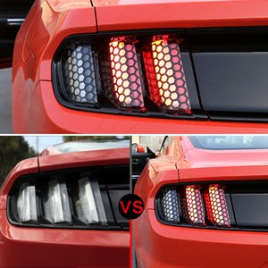 For Ford Mustang 2015 2016 2017 Honeycomb Style Rear Tail Light Stickers 6pcs Car Styling Supers