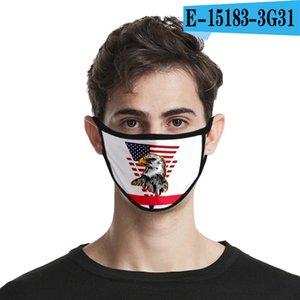 36styles de la bandera de Estados Unidos en 3D Máscara de América Día de la Independencia de la mascarilla lavables 2020 máscaras a prueba de polvo Boca cubierta protectora Manera Al Mar GGA3511