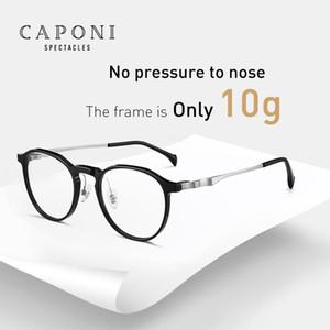 CAPONI Marke Titan Brillengestell Sonder Oval Type Design Brillen optische transparente Geschäfts Brillen für Männer Frauen J3020