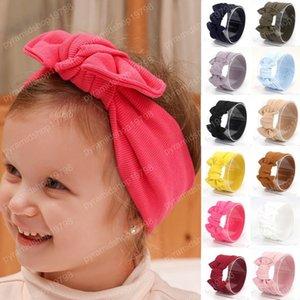 Mignon bébé enfants fil solide Tie Big Bow élastique fille bandeau mignon mode confortable bébé Bandeaux