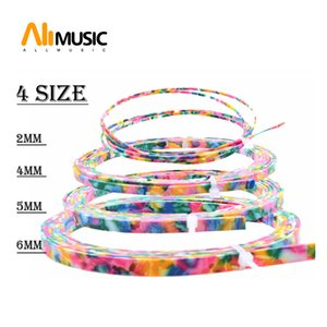 10 pcs Colorful Celluloid 6 5 4 2 mm Width Guitar Binding Purfling 5 Feet Length Colourful Pearl