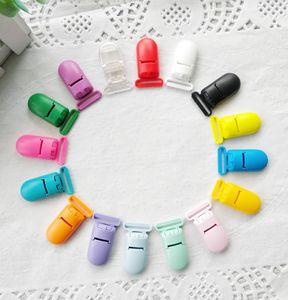 Clips de plástico Chupete liga acorta titulares Chupete Chupete Caja de seguridad de plástico fuerte para los colores para bebé venda al por mayor