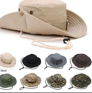 Wide Brim Cowboy Hat Collapsible Hats Fishing Golf Hat Sun Bucket Boonie Hat Fashion Bucket party Hats KKA7963