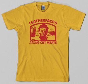 Hillbilly Abbigliamento unisex Texas Chainsaw Massacre T Shirt Leatherface Horror Slasher Film anni 80 Graphic Tee Tumblr Top Tees Nuovo
