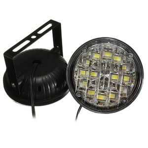 2X 12V سيارة الصمام أضواء النهار تشغيل مرنة LED DRL مصباح الضباب جولة تحذير الضباب الخفيف القيادة ضوء لمبة سيارة التصميم