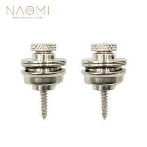 Naomi 2 قطعة / المجموعة غيتار الشريط قفل straplock زر ل الصوتية / الكهربائية أجزاء الغيتار باس غيتار اكسسوارات جديد