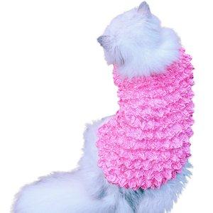Trsnser Chemise de chien de vêtements pour animaux Cat Color Magic Shirt Plein Universel été mince Section jaune Clothings pour les chiens P30 19June4